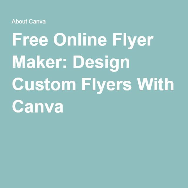 free online flyer maker design custom flyers with canva edm maker