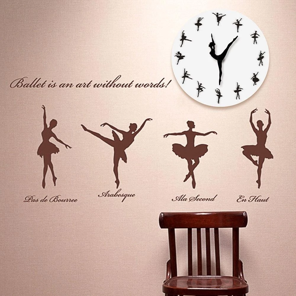 Ballet Clock Nalai Co Wall Clock Night Wall Clock Wall Clock Modern