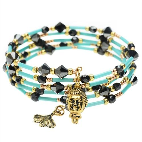 Boho Glam Charm Bangle Bracelet - Exclusive Beadaholique Jewelry Kit