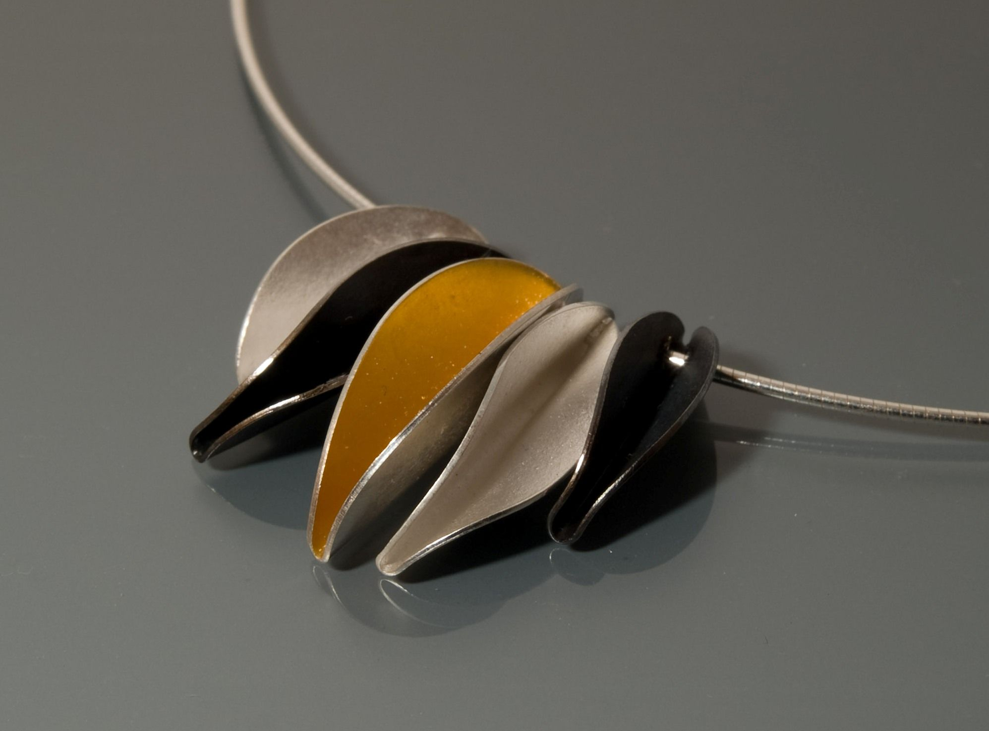 Contemporary Art Necklace. Fold Forming Necklaces