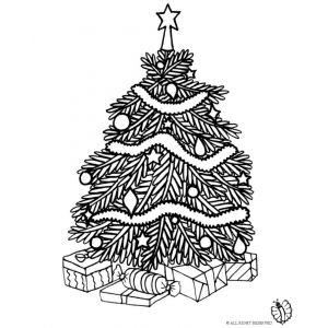 Albero Di Natale Con Regali Da Colorare.Disegno Di Albero Di Natale Con Regali Da Colorare Disegni Di Alberi Decorazioni Albero Di Natale Alberi Di Natale