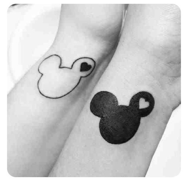21 Adorable Couple Tattoos Inspired By Disney | Friend tattoos ...