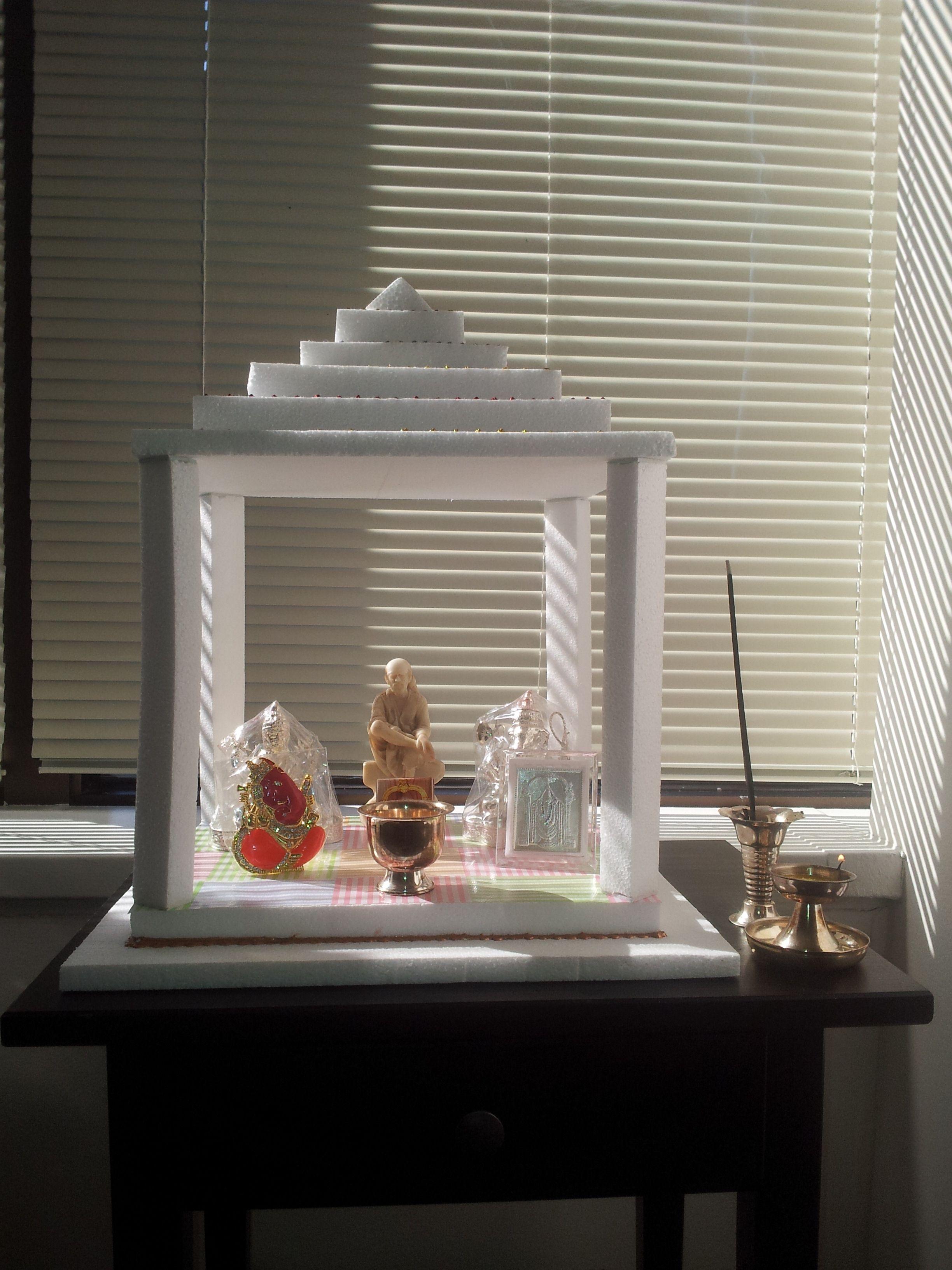 Pooja Mandir Made Out Of Thermocol !
