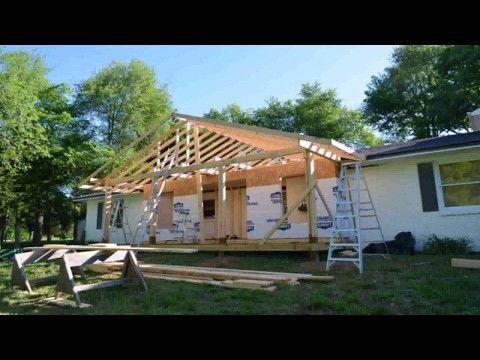 ranch style house front porch addition - youtube   porches