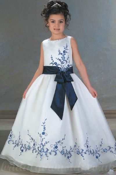 3b60879231 Satin A Line Sash Handmade Embroidery Common Customzied Girls In Dress