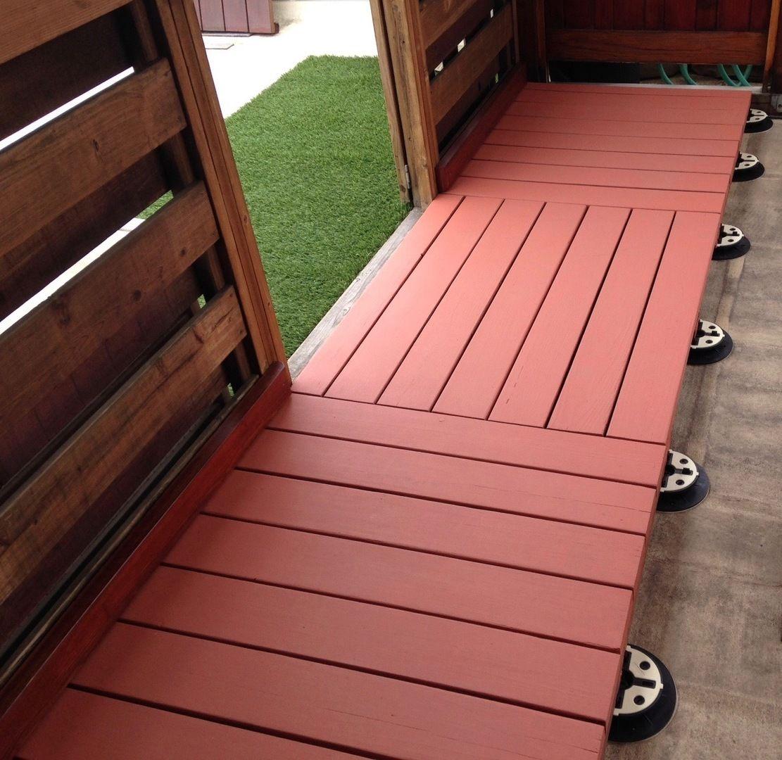 Diy Friendly Deck Tiles In 2020 Deck Tiles Ipe Wood Deck Deck