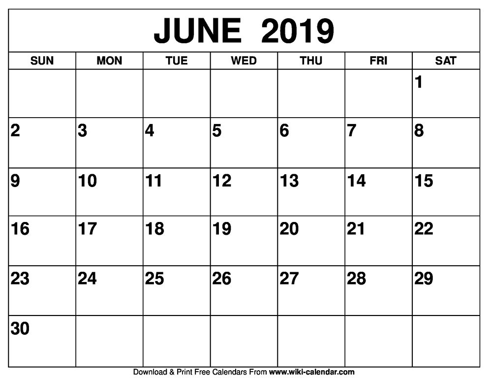 Free Printable June 2020 Calendars (With images) | Monthly ...