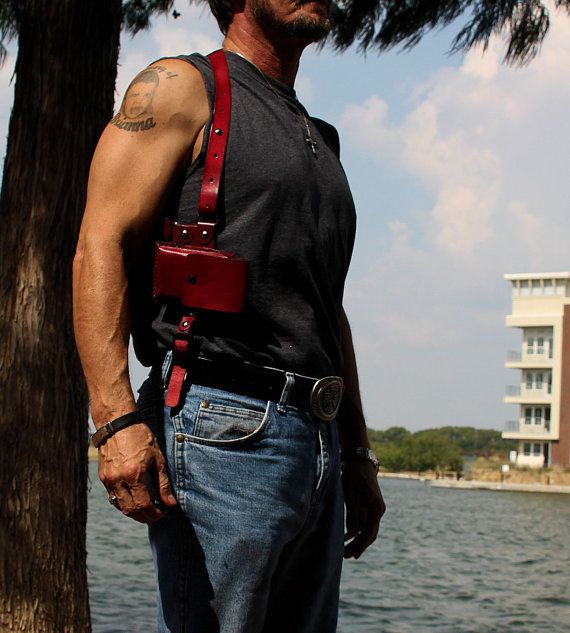 the best attitude ec997 bc35d Custom Cell Phone Shoulder Holster Rig | Men's Accoutrements ...