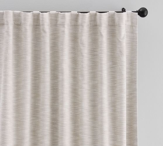 Seaton Textured Curtain Neutral Pottery Barn Curtain Texture Neutral Curtains Curtains