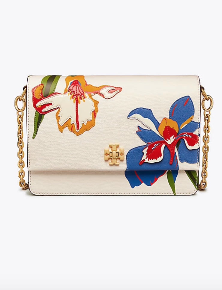 333fb20821e Tory Burch Kira Floral Double-Strap Shoulder Bag