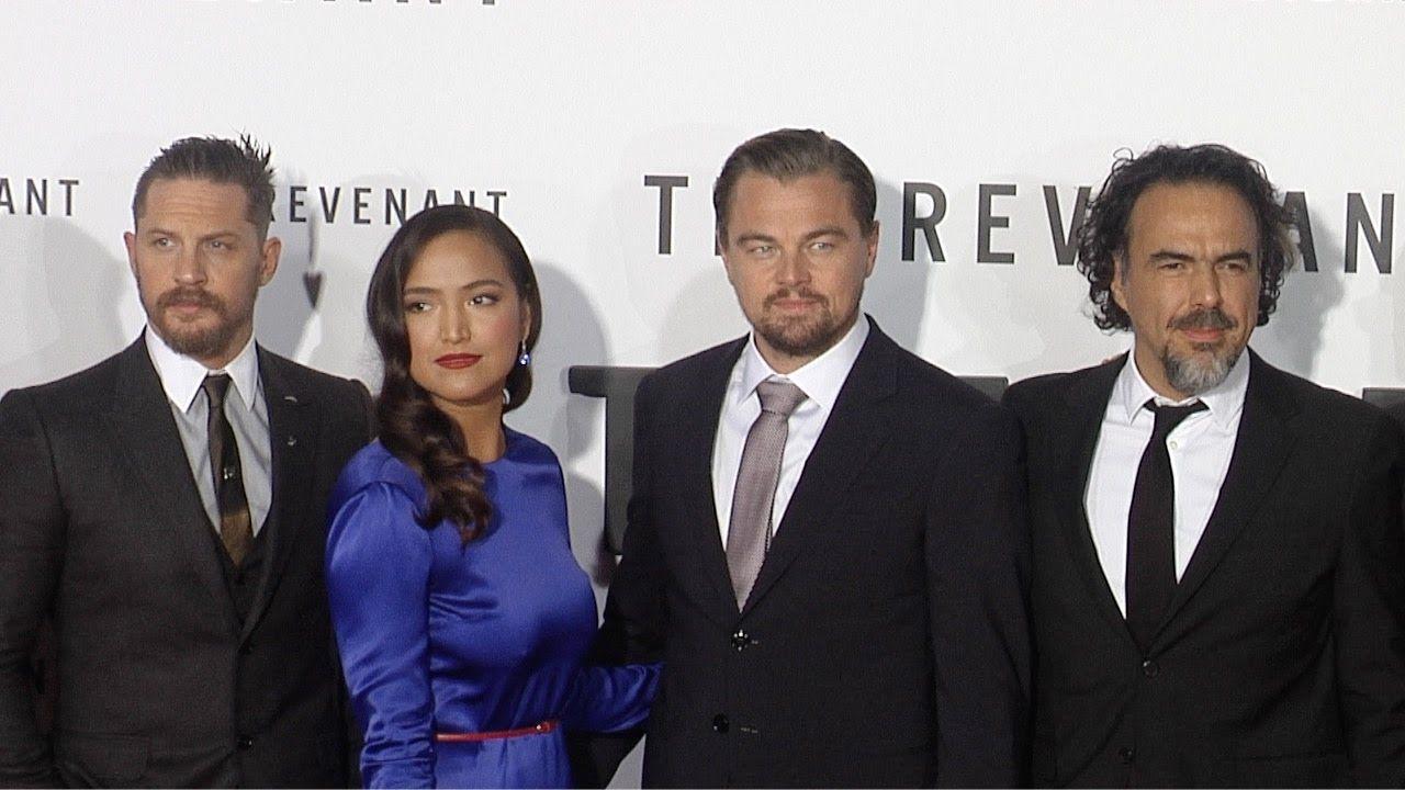 """The Revenant"" Premiere Leonardo DiCaprio, Tom Hardy, Will Poulter, Domh..."