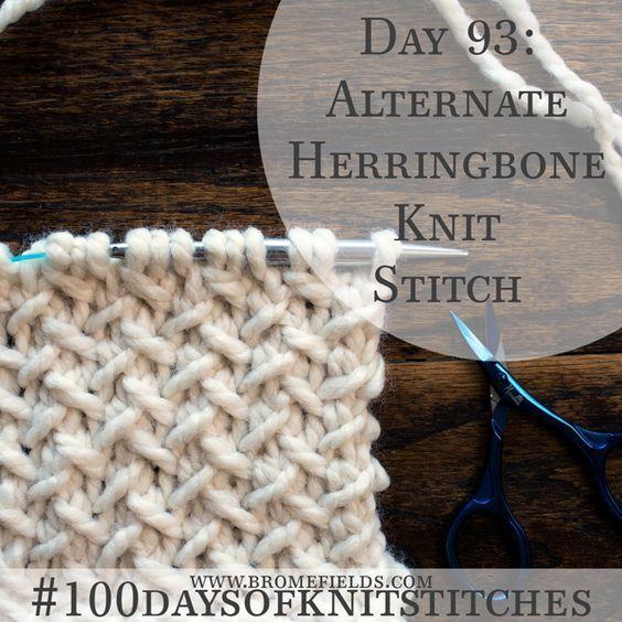 How to Knit the Alternate Herringbone Knit Stitch +PDF +VIDEO ...