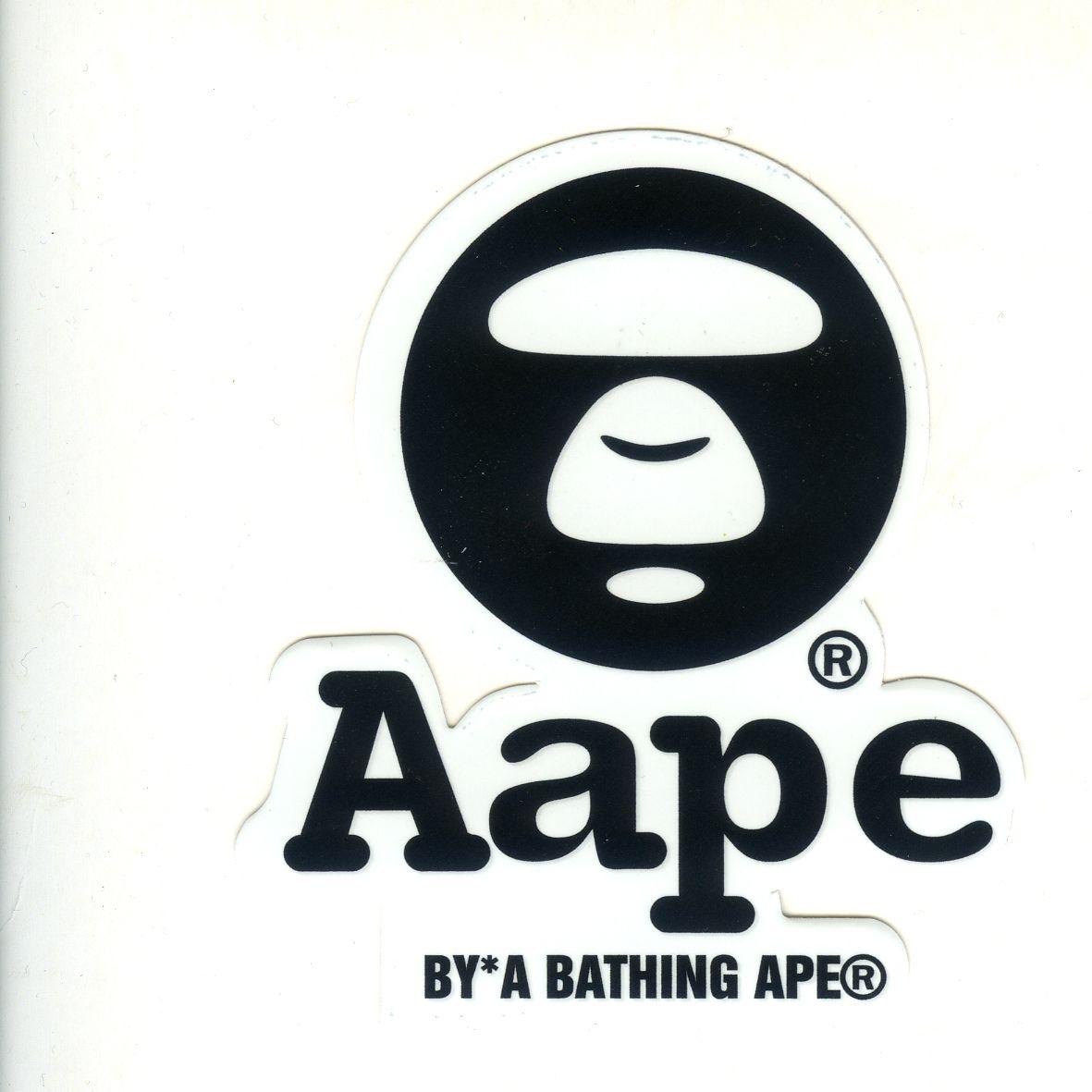 14ca05a5 #1700 AAPE By Bathing Ape Badge Logo , Height 8 cm decal sticker -  DecalStar.com