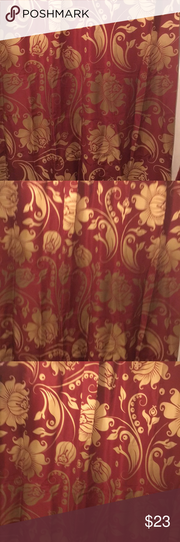Burgundy And Gold Shower Curtain Brand New Burgundy And Gold