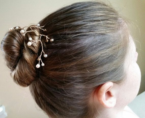Gold And Pearl Hair Piece Gold Prom Hair Piece By Westcoastjewelry