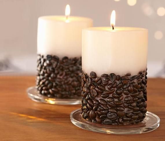 Coffee Scented Decorative Candle, Customized Gift,
