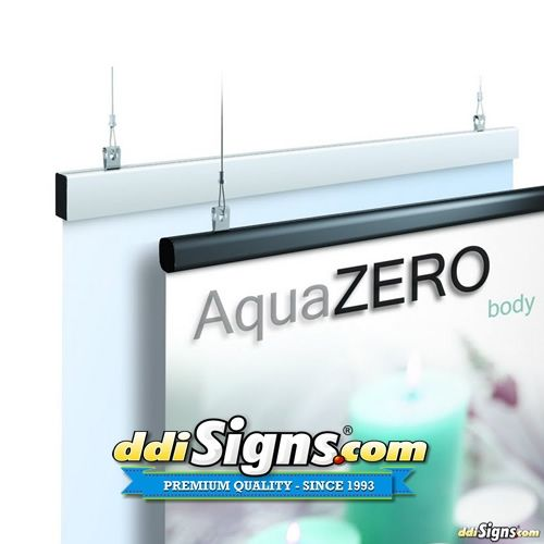 Hanging Graphic Bar | Aluminum Easy Graphic Gripper Bar | Hanging Rail