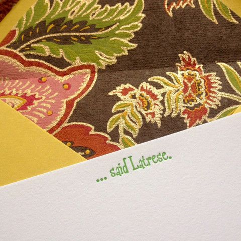 Custom letterpress flat panel note cards – Sparkle Pony Press