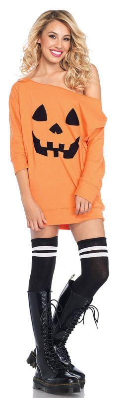 Women S Pumpkin Costume Pumpkin Dress Halloween Fashion Halloween Costumes