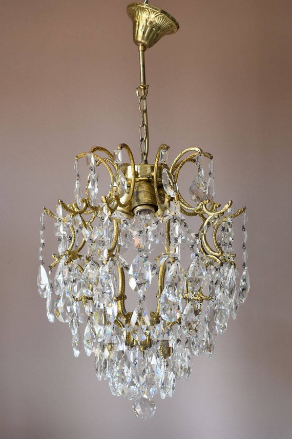 Ornate Crystal Chandelier Vintage Crystal Chandelier Lighting