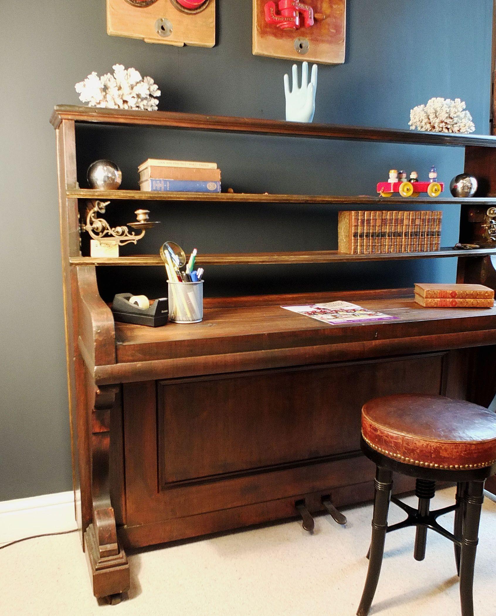 Converted Upright Piano - Desk …