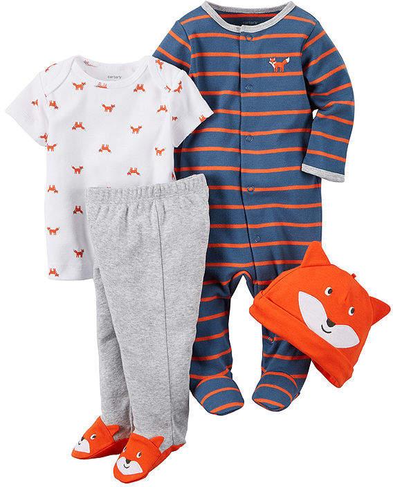 3094a15e1a90 CARTERS Carter s 4-pc. Fox Layette Set - Baby Boys newborn-24m ...