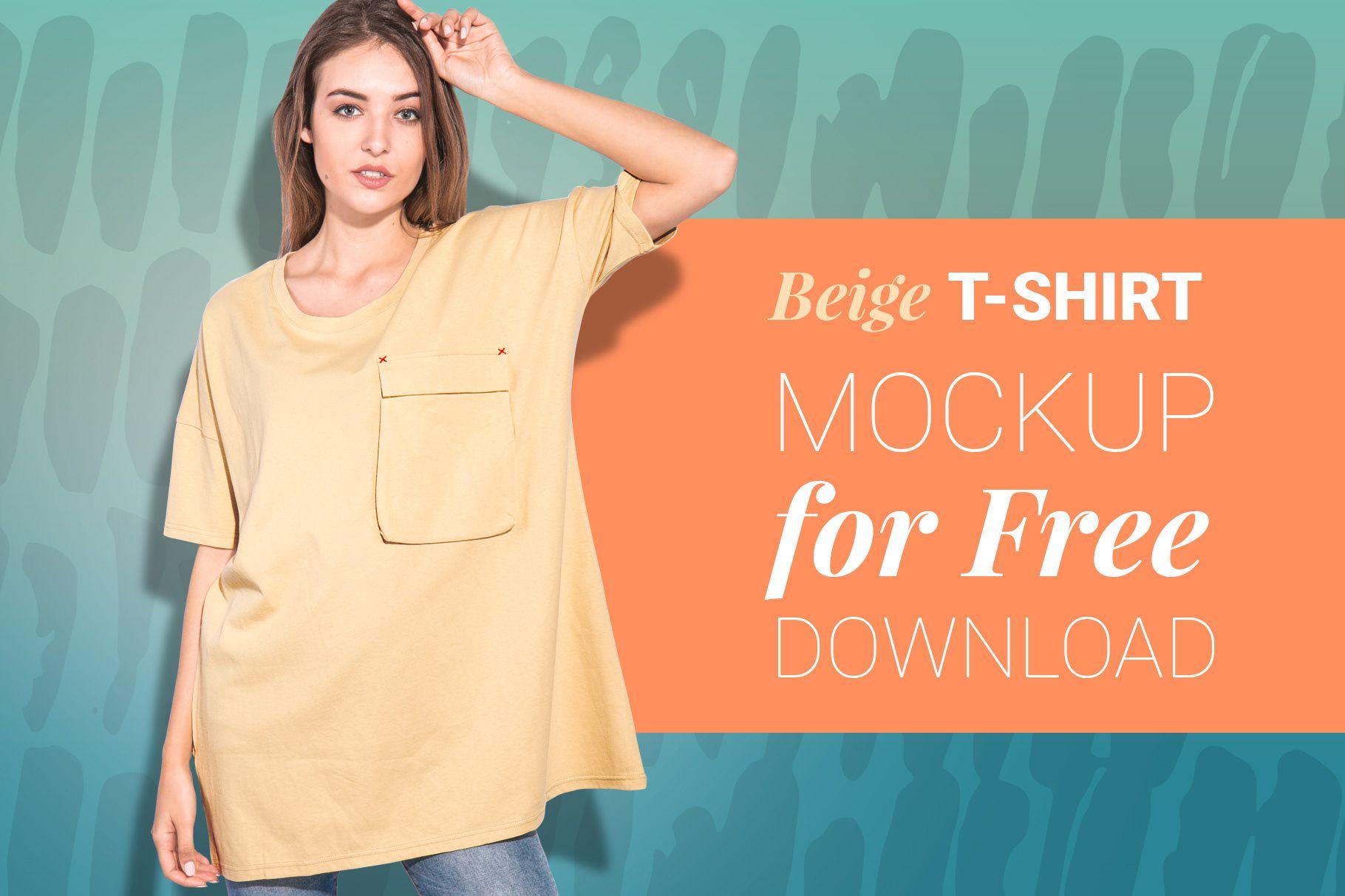 Download Woman Oversize T Shirt Mockup With Transparent Bg On Behance Behance Freebie Freedownload Mockupfree Shirt Mockup Tshirt Mockup Beige T Shirts