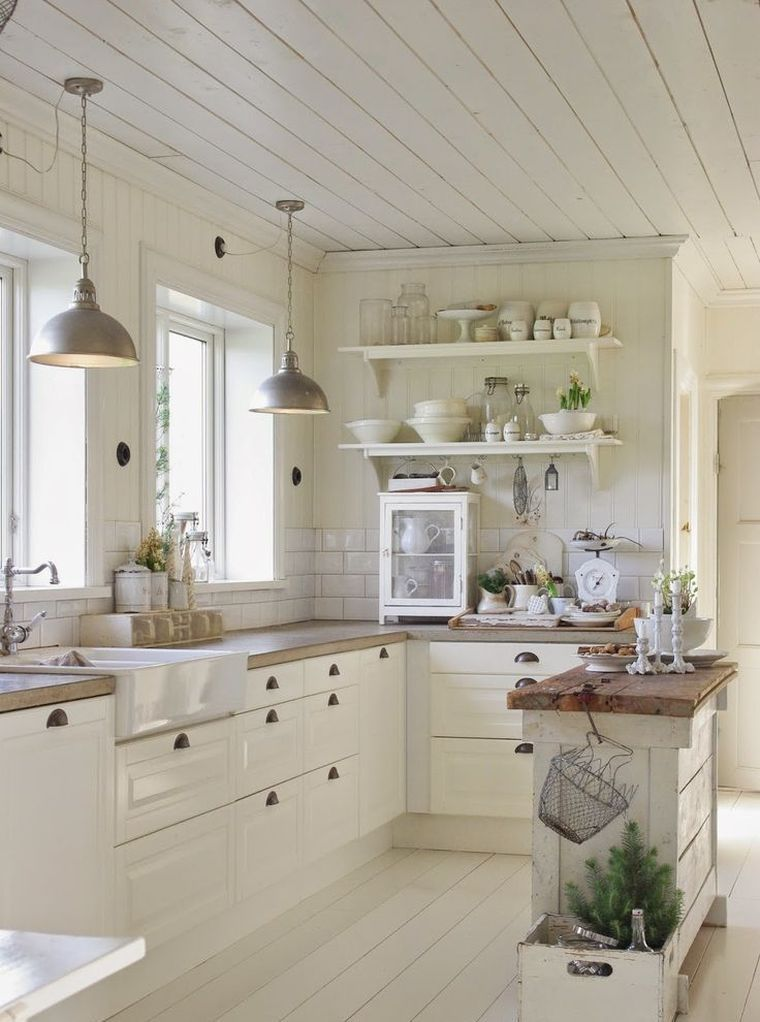 Petite cuisine avec îlot central ou bar: 24 idées d\'aménagement ...