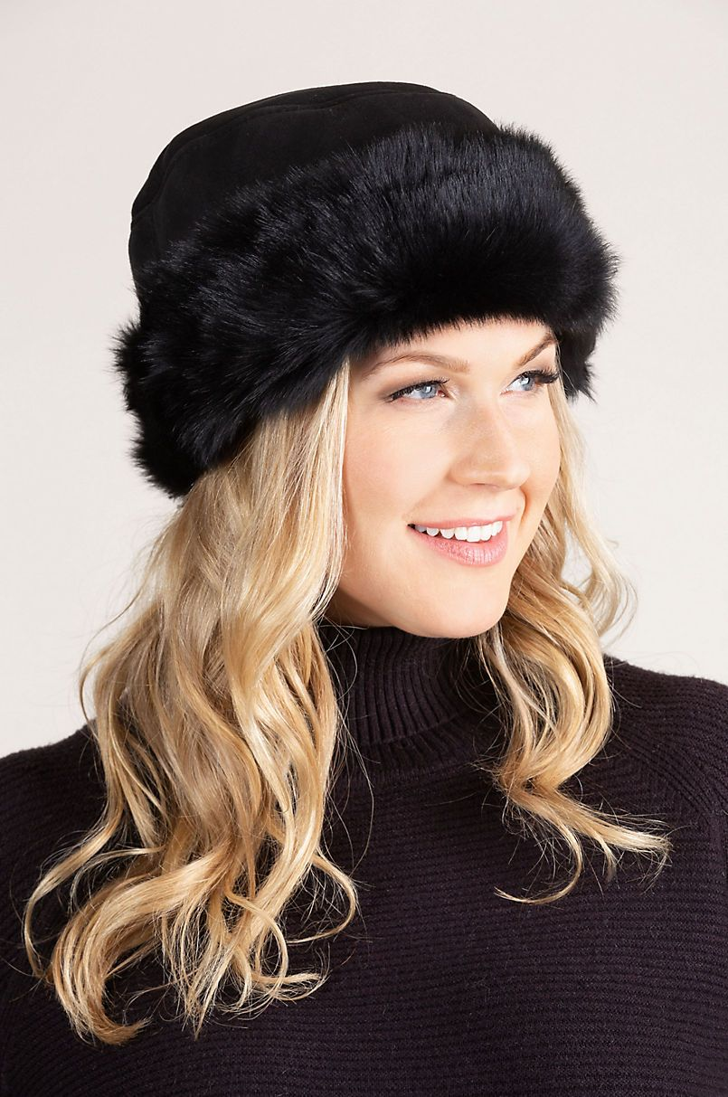 553cb752fe32d0 Spanish Shearling Sheepskin Cossack Hat with Toscana Trim in 2019 ...