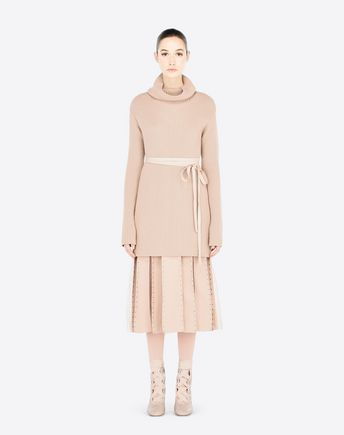 VALENTINO High Neck Sweater With Belt. #valentino #cloth #