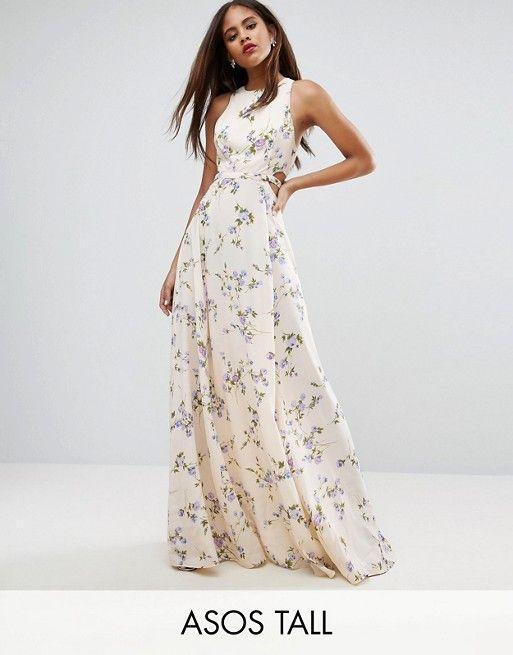 2d8c4814ce0a0f TALL Cutout Waist Floral Maxi Dress | My Style | Floral maxi dress, Floral  maxi, Tall dresses