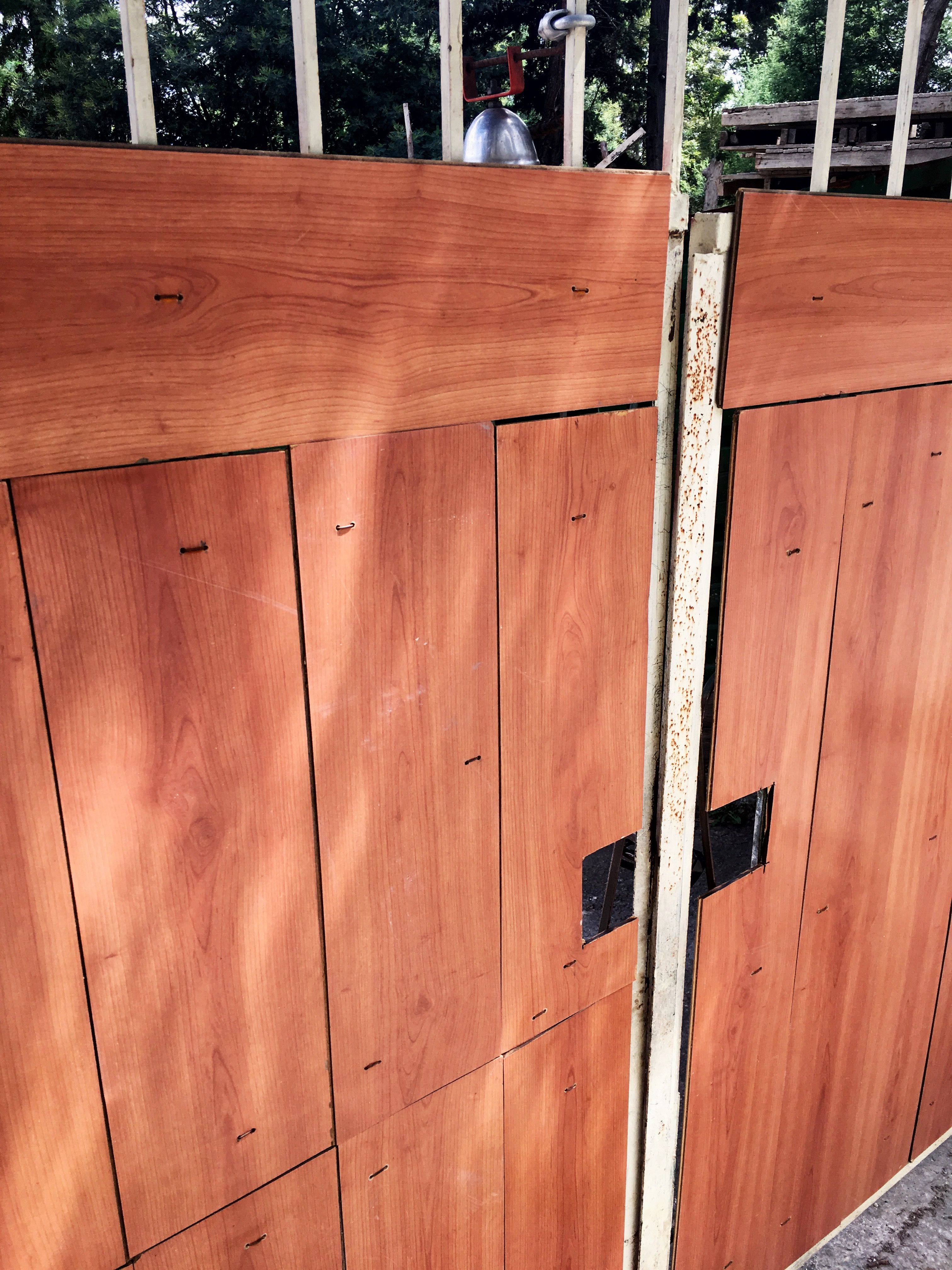 Upcycling Laminate Flooring For Outdoor Gate Outdoor Gate
