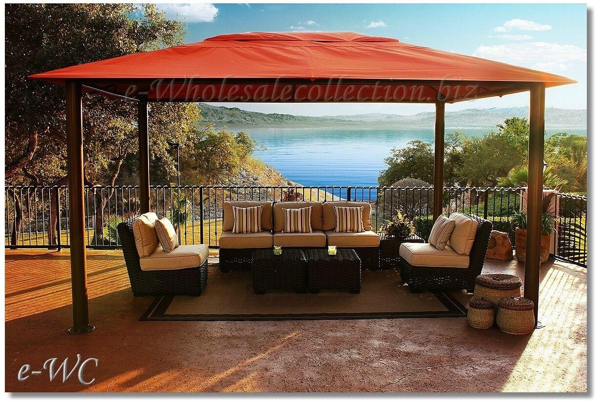 Outdoor 11u0027x15u0027 Sunbrella Canopy Top Pergola Gazebo Patio Cabana | EBay