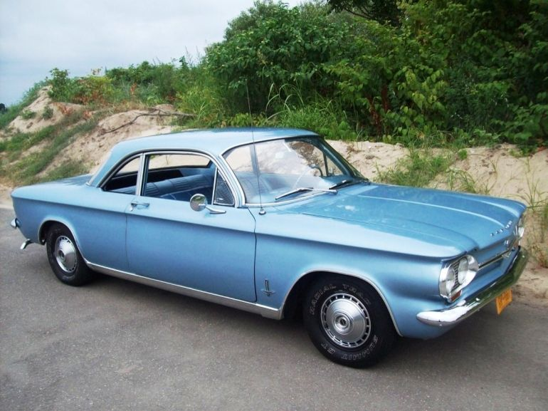 1964 Chevy Corvair Monza Six Cyl Rear Engine Car Unsafe At Any Sd But A Fine Looking Little