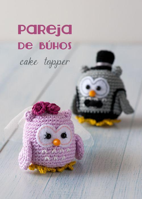 Una pareja de búhos que se va de boda por Lanukas   crochet ...