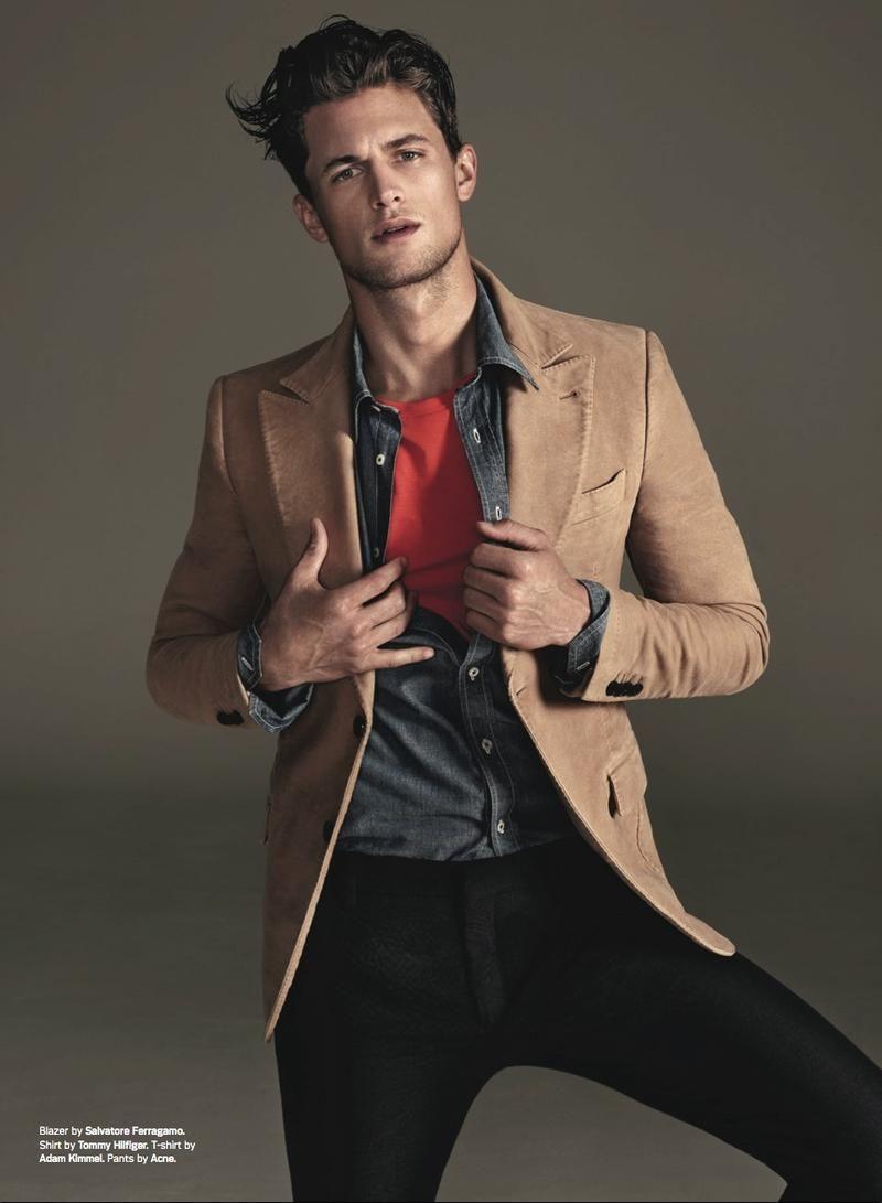 Men s Fashion   Fall Winter Trend   Ferregamo Blazer   Tommy Hilfiger Shirt  Fashion Advice, 4a0208fcccd