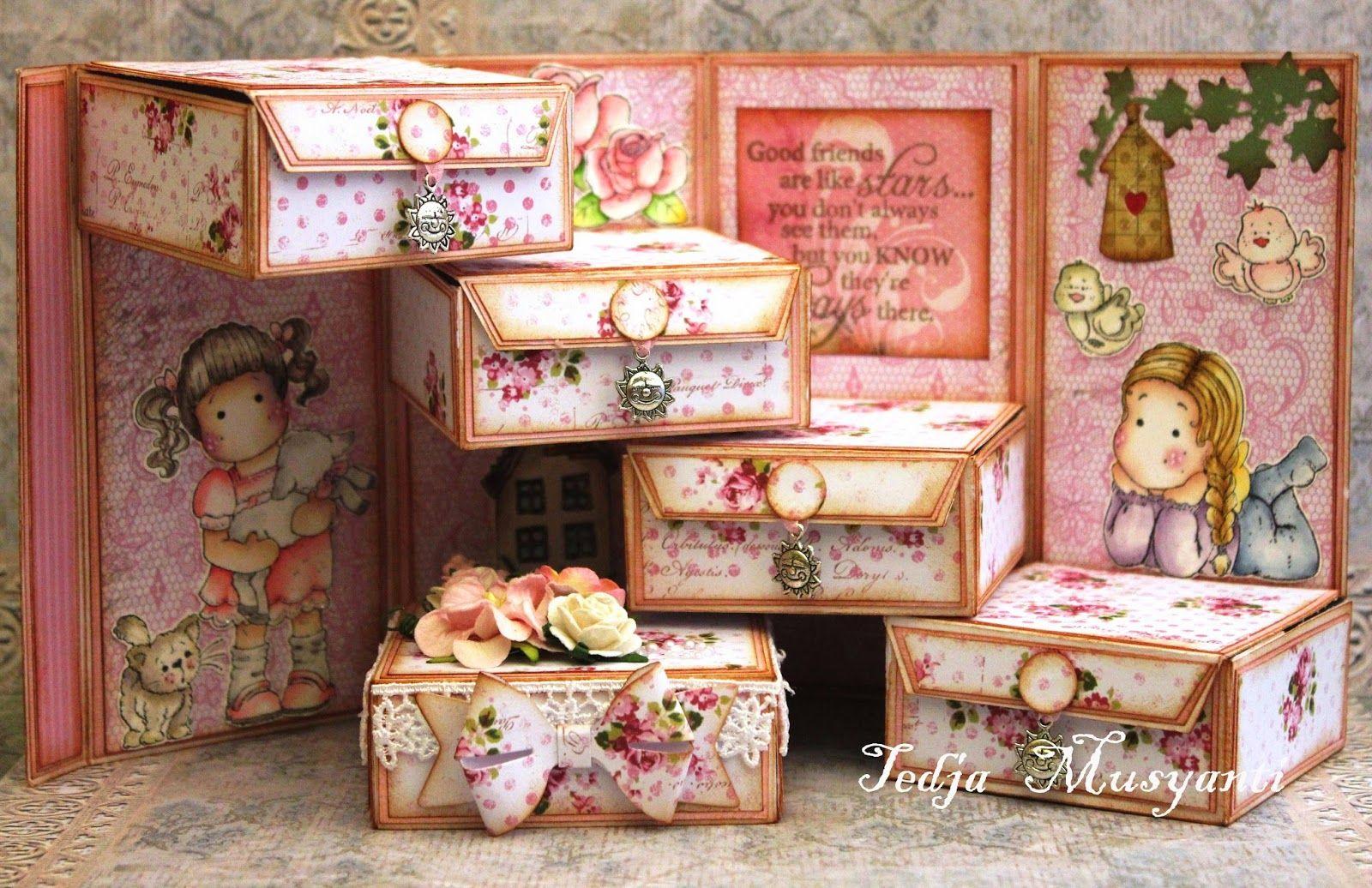 Magnolia stamps, Scrapbook paper crafts