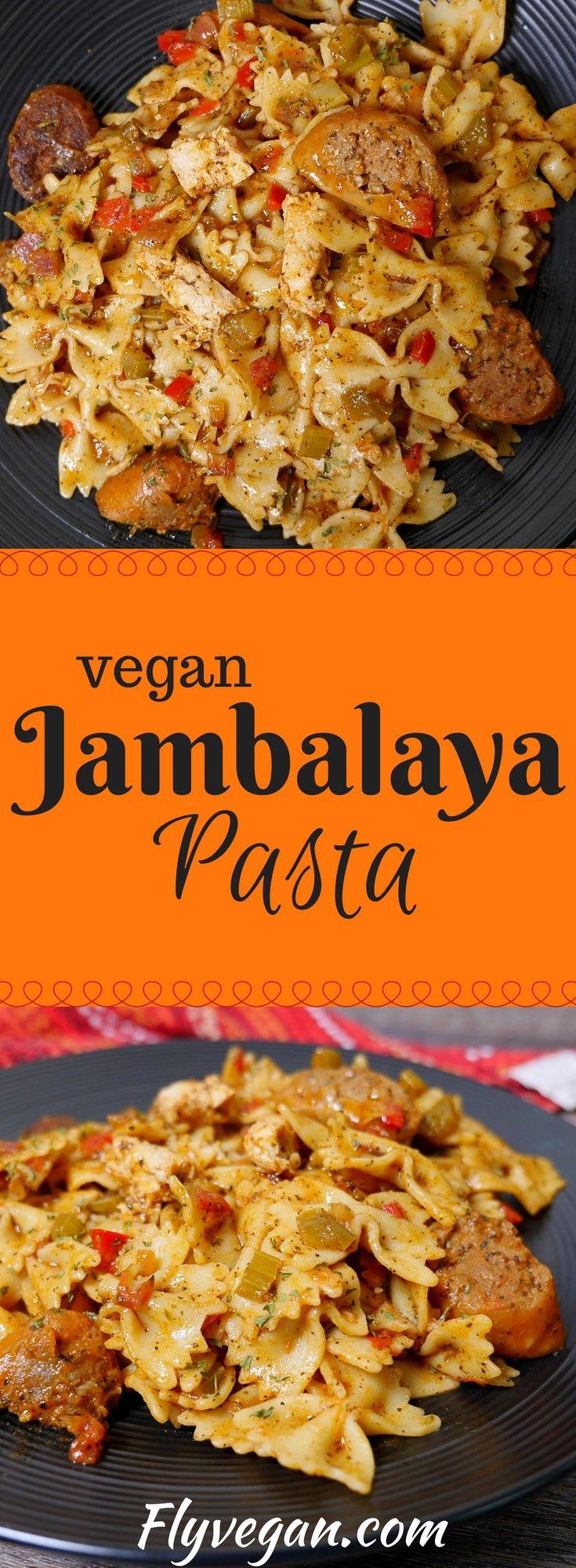 Cajun Pasta Recipe Pastalaya Vegan Jambalaya Made With