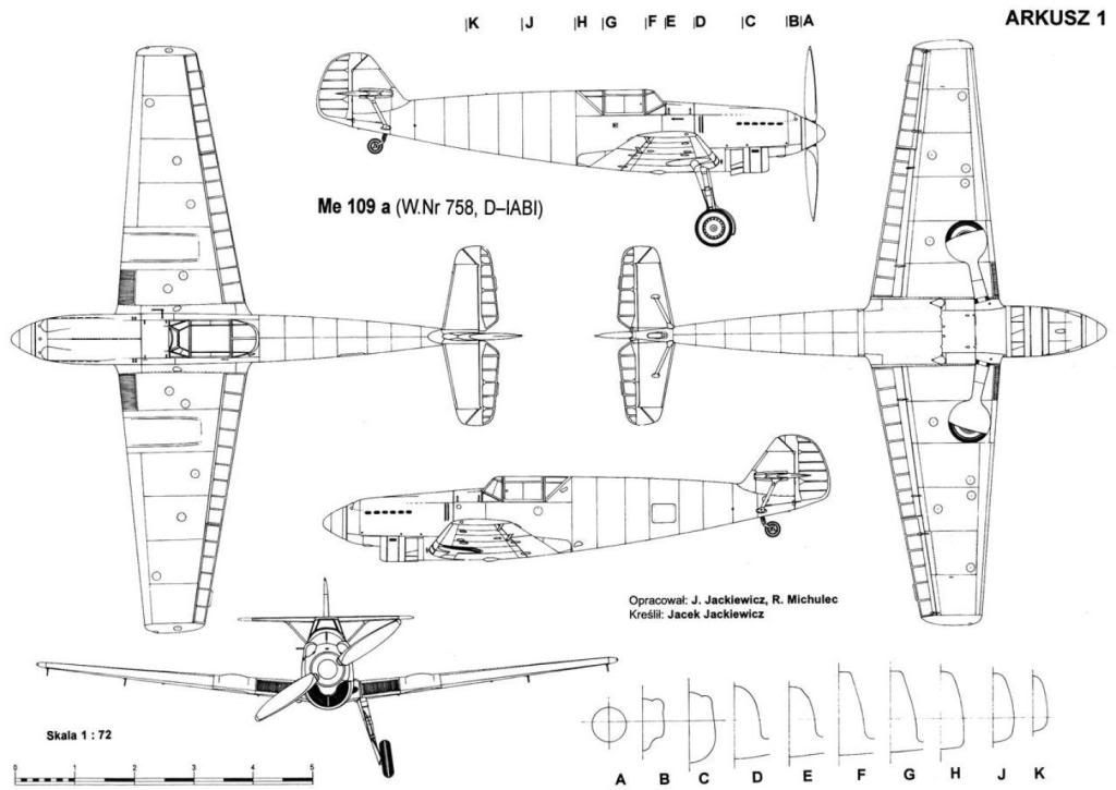 Image Result For Me109 Technical Drawing