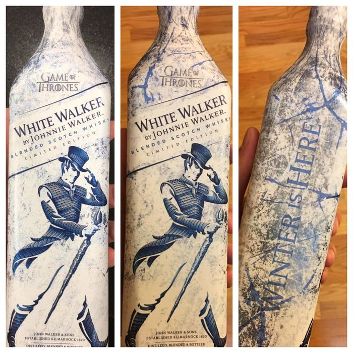 Promotional White Walker by Johnnie Walker, before and