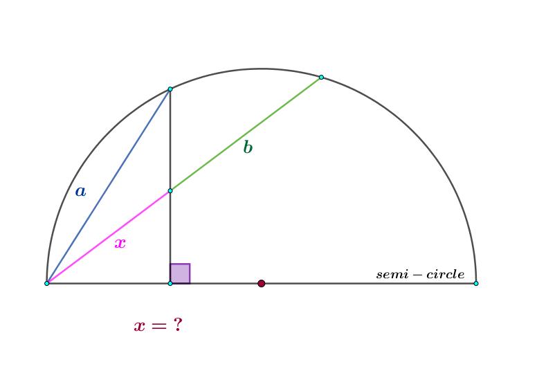 Semi Circle Eylemmath Geometry Problems Math Questions Mathematics