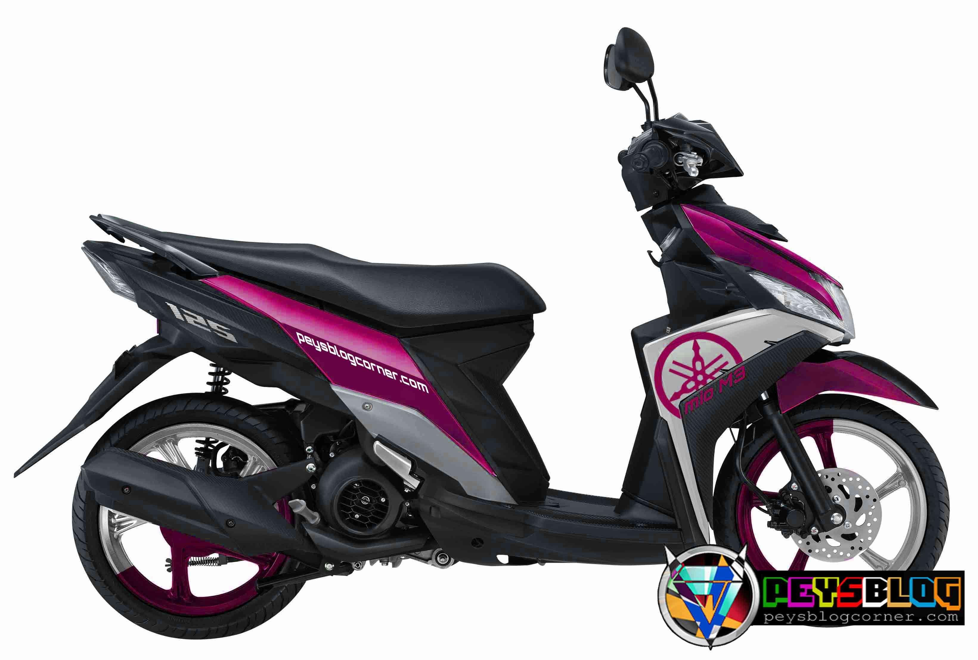 Modifikasi Motor Mio M3 Warna Pink Motor Warna Lowrider