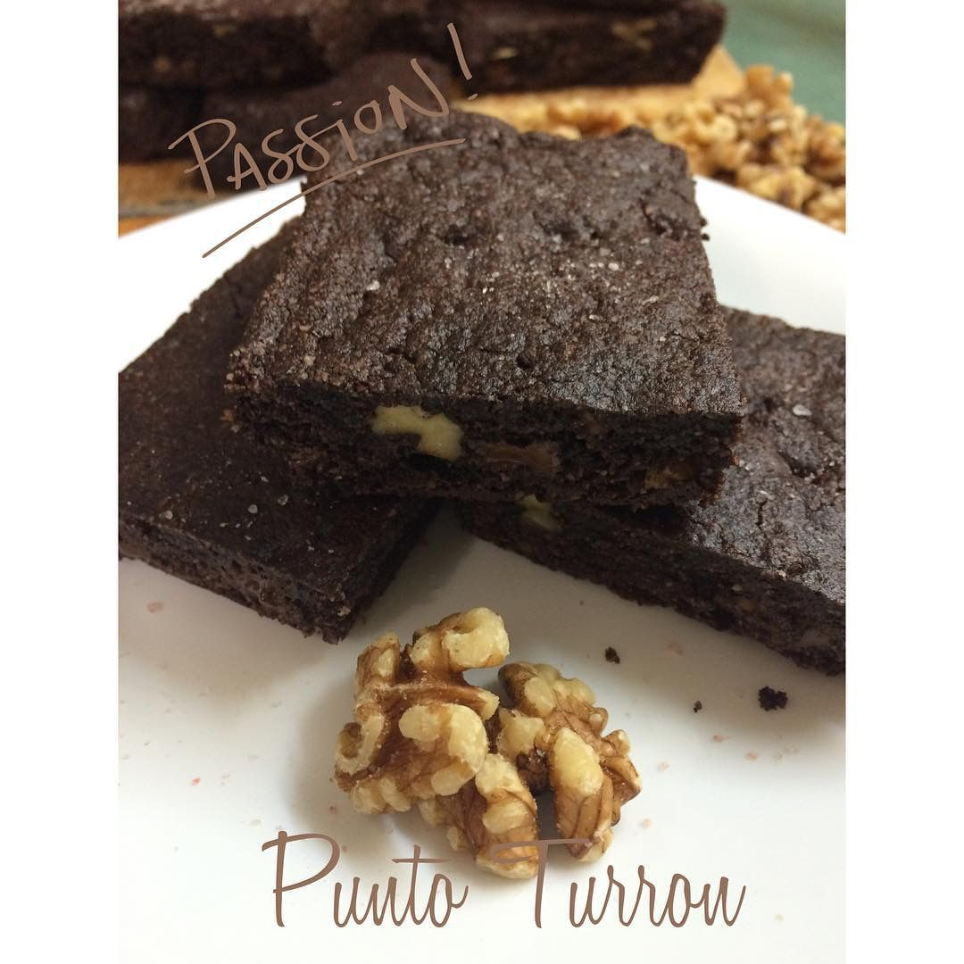 Brownies doble chocolate con nuez
