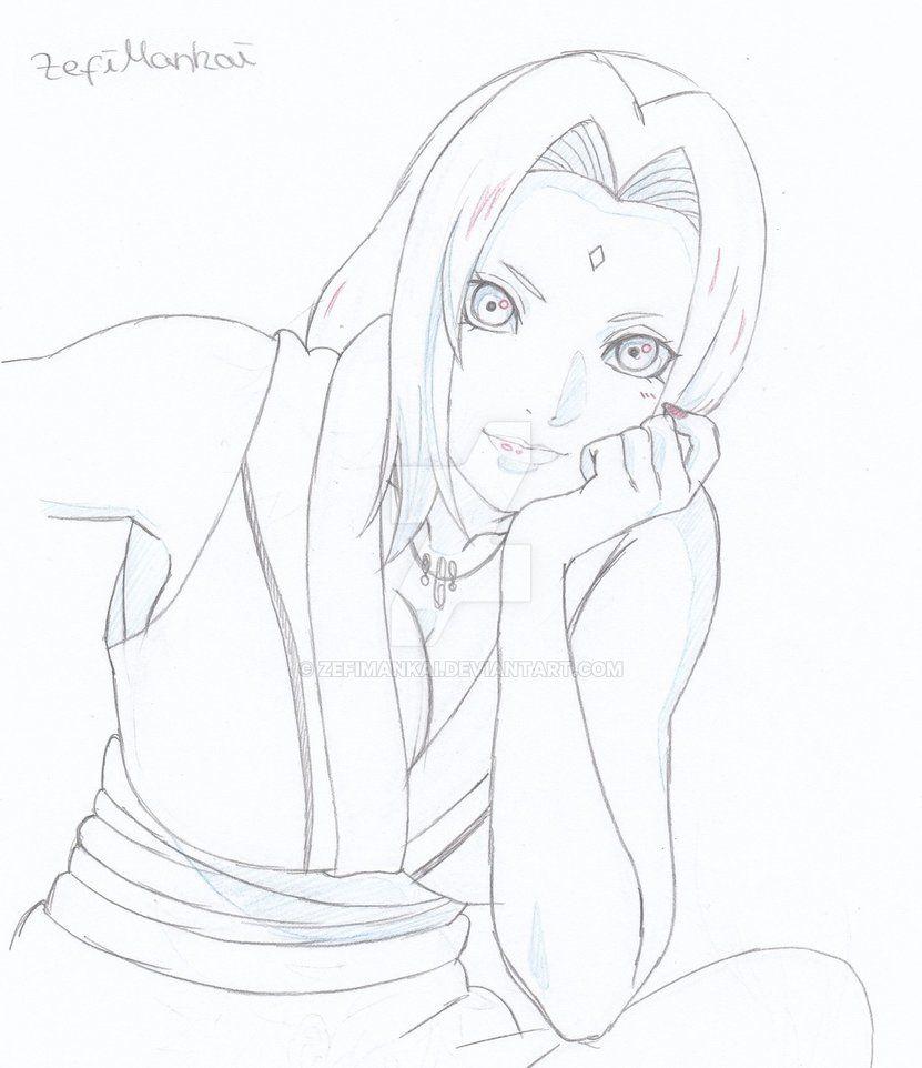 Tsunade By Zefimankai Com Imagens Desenhos Naruto Desenho