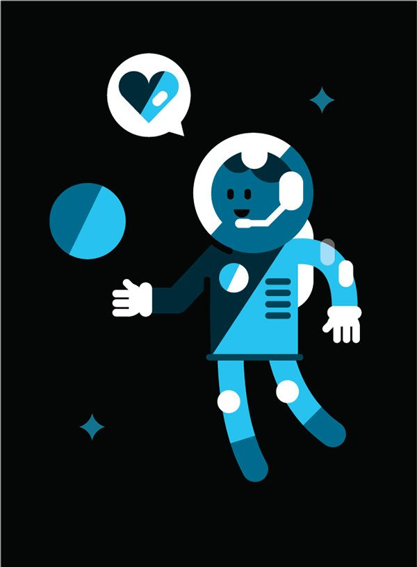 Minimal illos ! TBC ...  by Adam Quest, via Behance