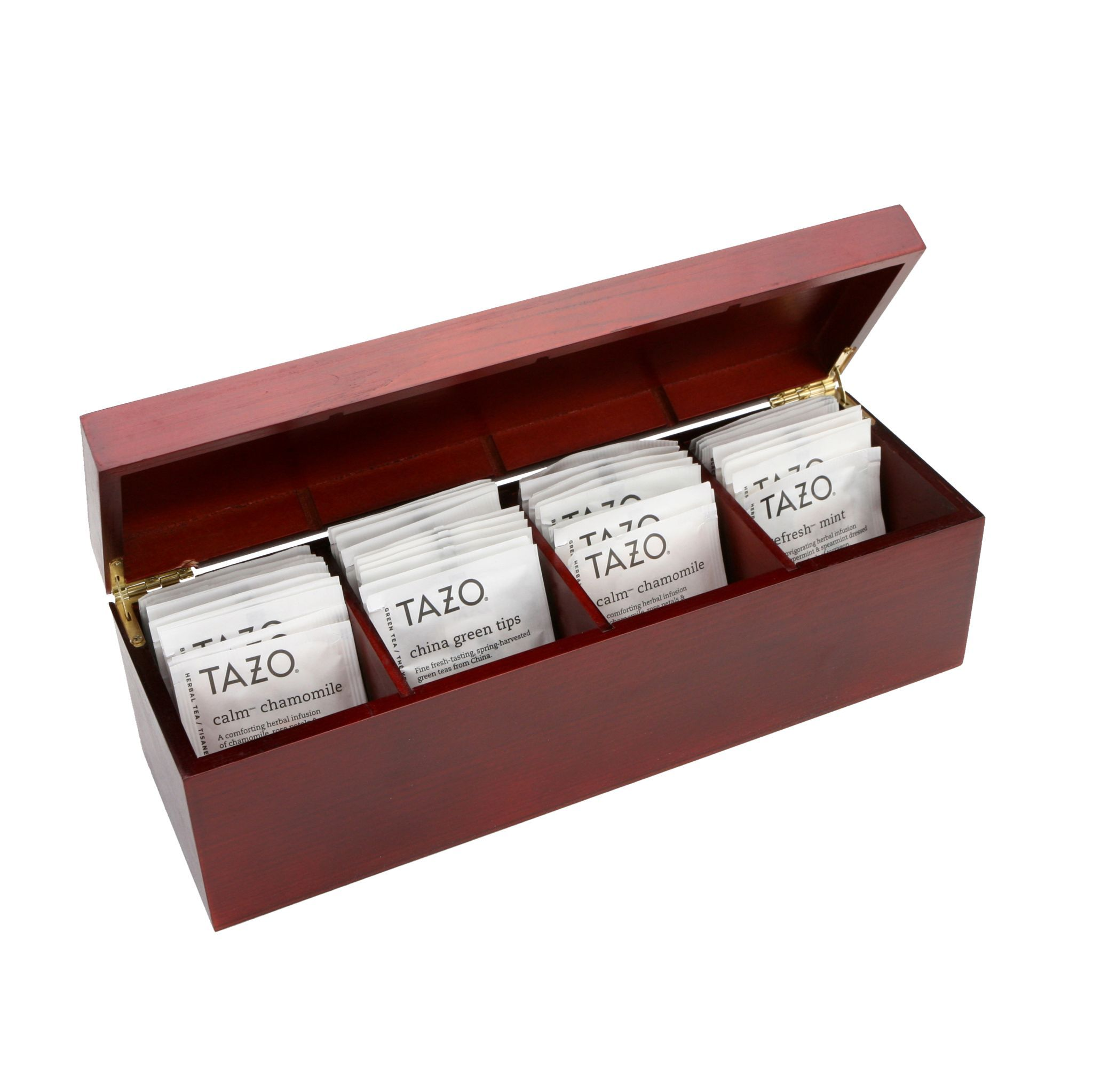 Burled Rosewood Tazo Tea Bundle - Includes 44 Tazo Tea Bags