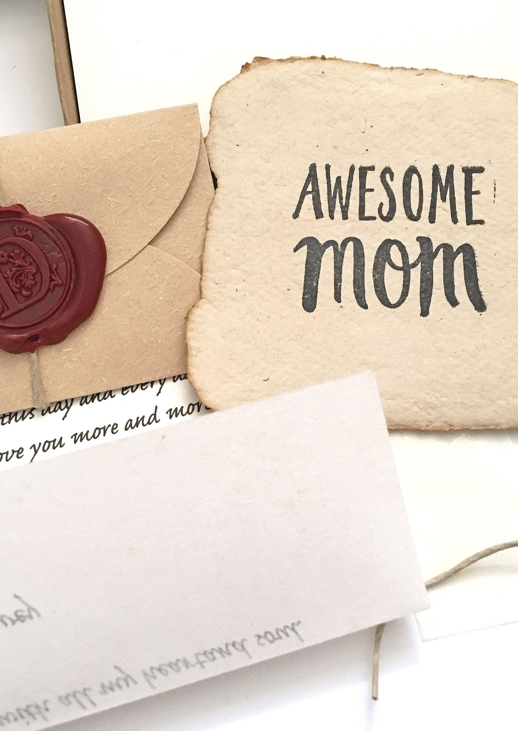 Unique Birthday Gift For Mom Your Love And Appreciation Letter Awesome Handmade Paper Card It Will Surely Make Her Happy
