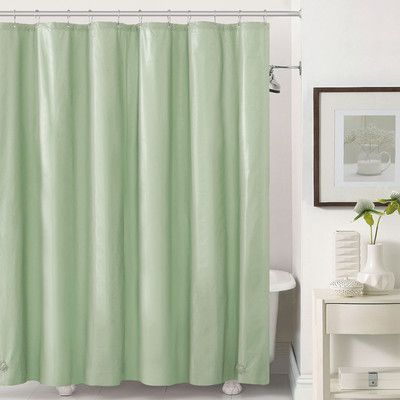 Ruthys Textile Mildew Free Peva 6 Gauge Heavy Weight Shower Liner Color Sage