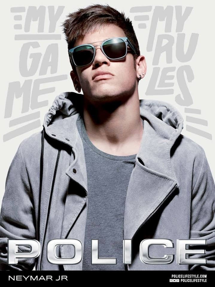 police Photo-shoot  neymarJR   Soccer   Neymar, Neymar jr, Sunglasses 8251423b98