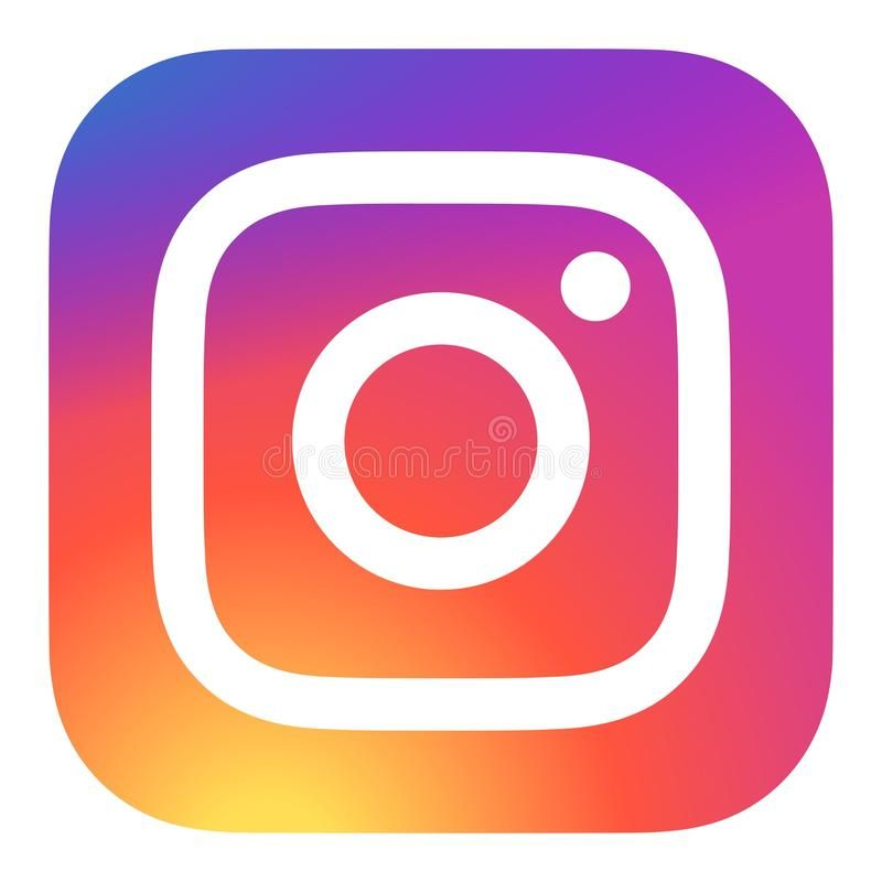 Instagram icon vector instagram multicolor icon on white